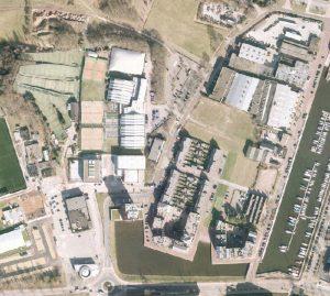 Luchtfoto van het gebied rondom de IJsselmeerstraat.