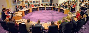 De nieuwe gemeenteraad van Huizen op 27 maart.