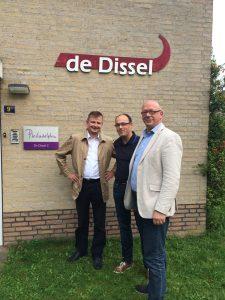 Fractieleden Bert, Ruben en Kees aanwezig bij de Dissel