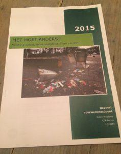 """Het rapport over vuurwerkoverlast in Huizen met titel: """"Het moet anders!"""""""