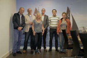 Deel van de CDA fractie op bezoek bij vishandel Bunschoten.