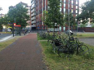 Verrrommeling van fietsenstallingen bij de Regentesse