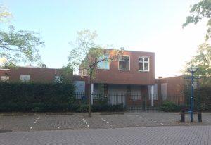 De locatie op de Gooierserf waar Hospice Huizen zal komen.