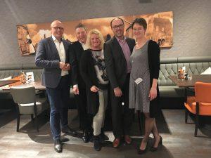 Vlnr: Kees de Kok, Bram de Haan, Daniëlle van Deutekom, Ruben Woudsma en Linda de Haan