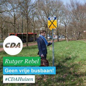 Met creativiteit verwacht CDA dat buslijn 320 nog sneller over het Merk zal rijden. Het stadspark blijft bespaard.