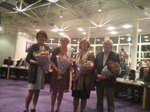 Vlnr: Janny Bakker, Marianne Verhage, Marlous Verbeek en Gerrit Pas.