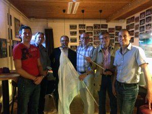 Huizer CDA fractie op de foto met bestuur The Pride.