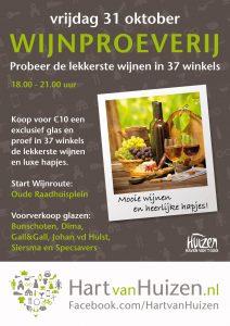 Een poster waarmee Hart van Huizen in 2014 reclame maakte voor het evenement.