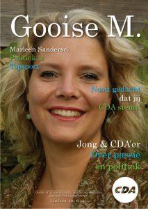 Het CDA Magazine 'Gooise M' die bij elk huishouden is bezorgd in Gooise Meren.